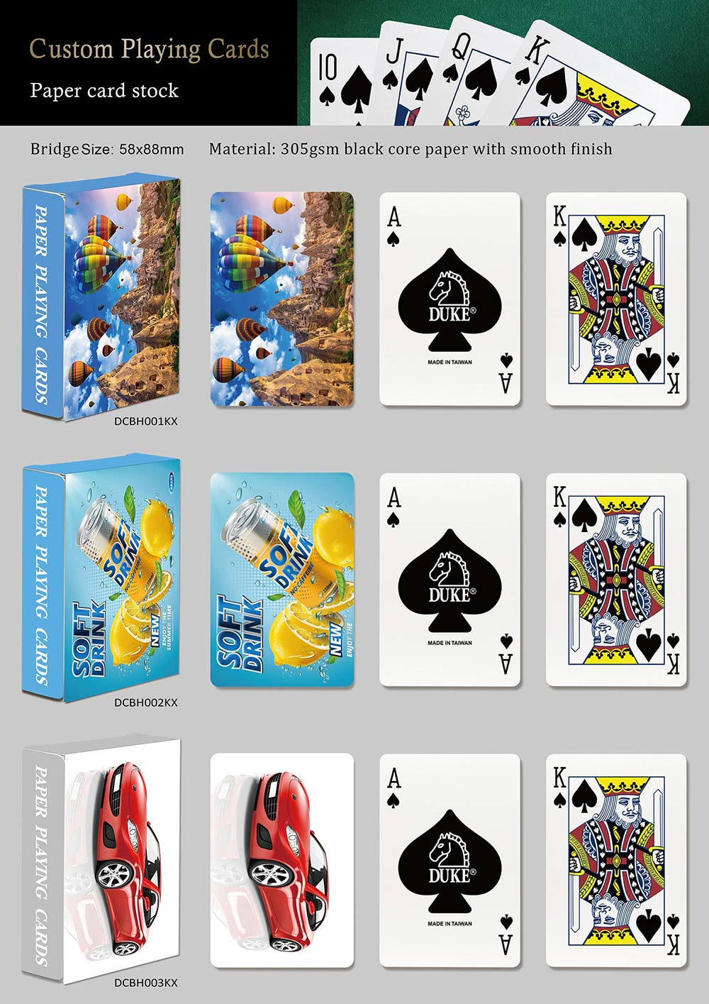 Ad playing cards-Paper