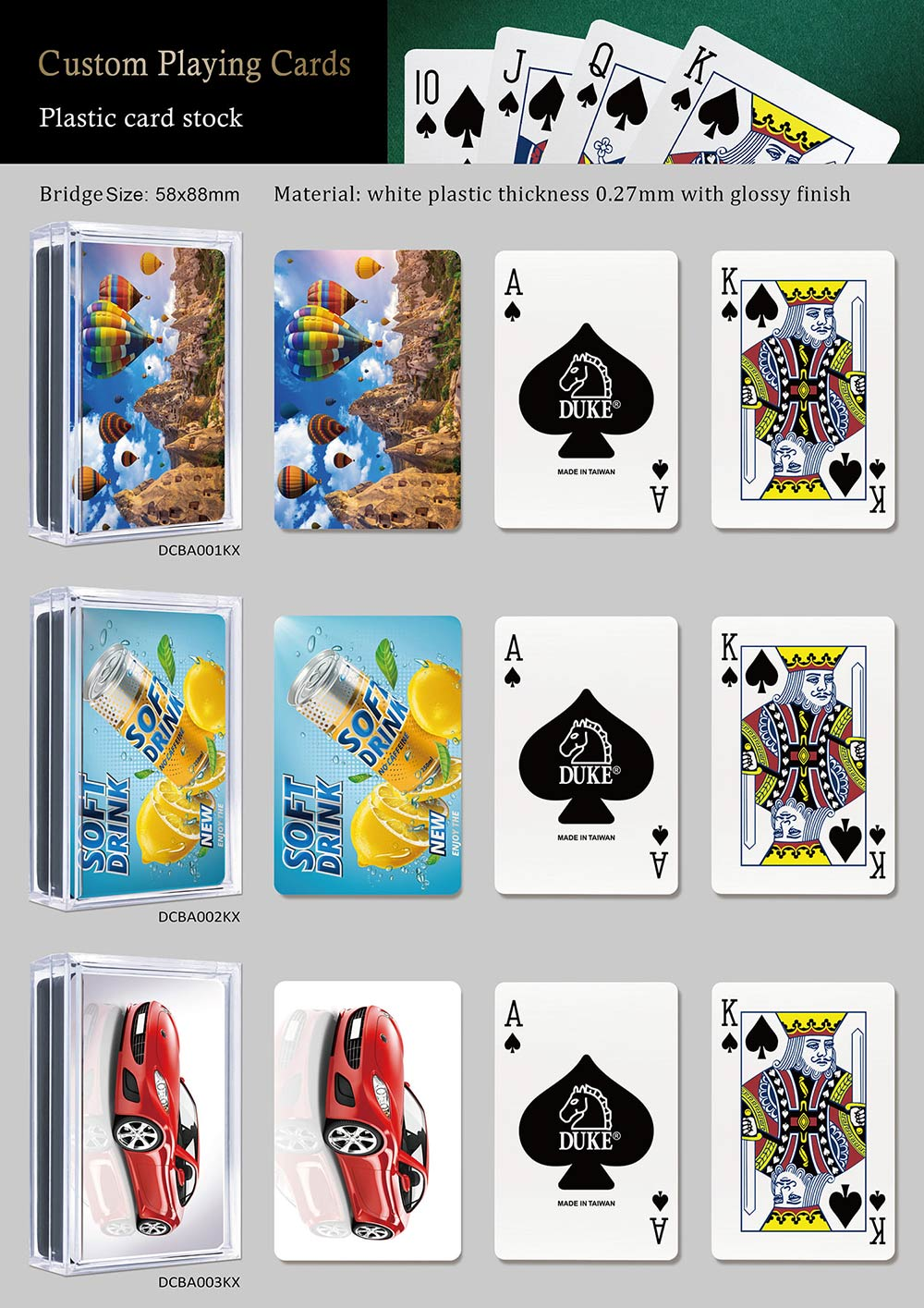Ad playing cards-Plastic